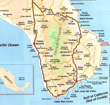 San Jose Del Cabo Mexico Map.Map Baja